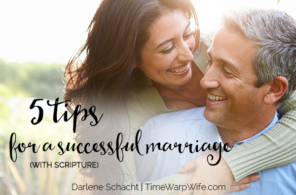 5 Tips (With Scripture) For a Successful Marriage