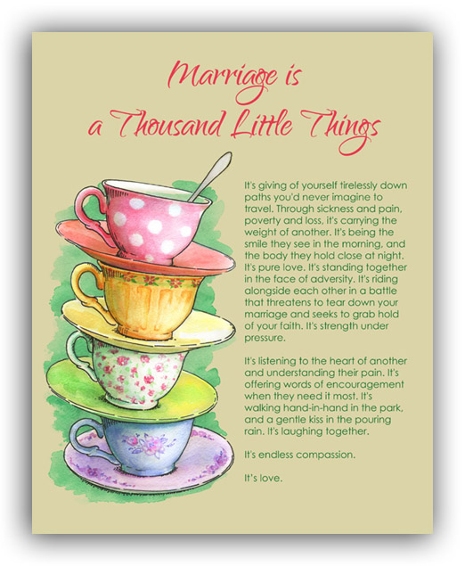 Marriage is a Thousand Little Things Pt. 1