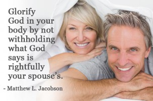 God's Instruction for Marriage Includes Intimacy Between a Husband and Wife