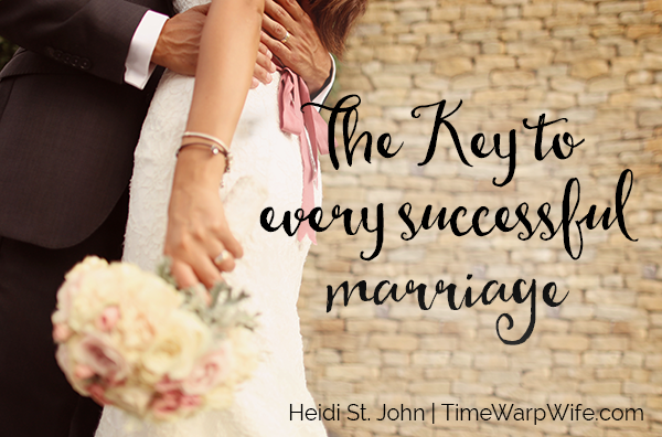 the key to every successful marriage