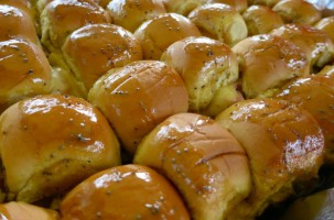 Baked Ham and Cheese Sliders with Poppyseed Dressing