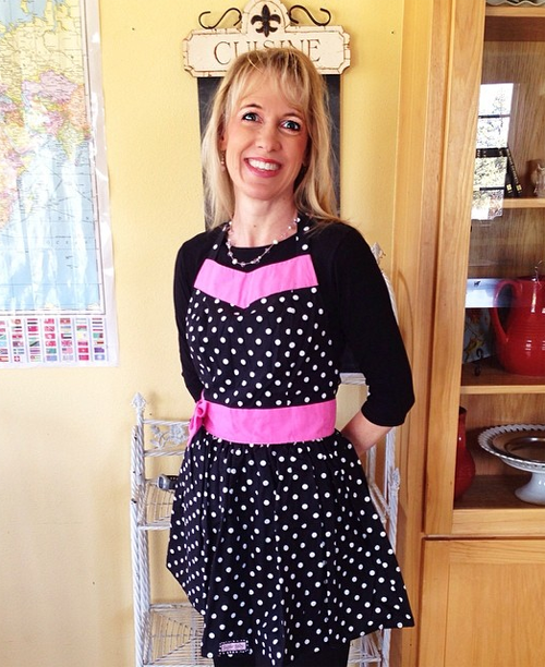 Lisa Jacobson in a Sugar Baby apron