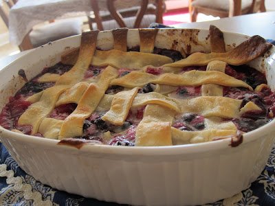 Easy Triple Berry Cobbler