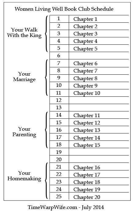 book club schedule