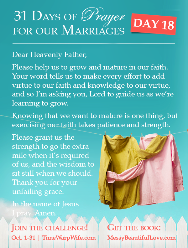 Day 18 - 31 Days of Prayer for Our Marriages