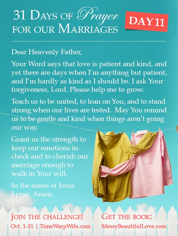 Day 11 - 31 Days of Prayer for Our Marriages