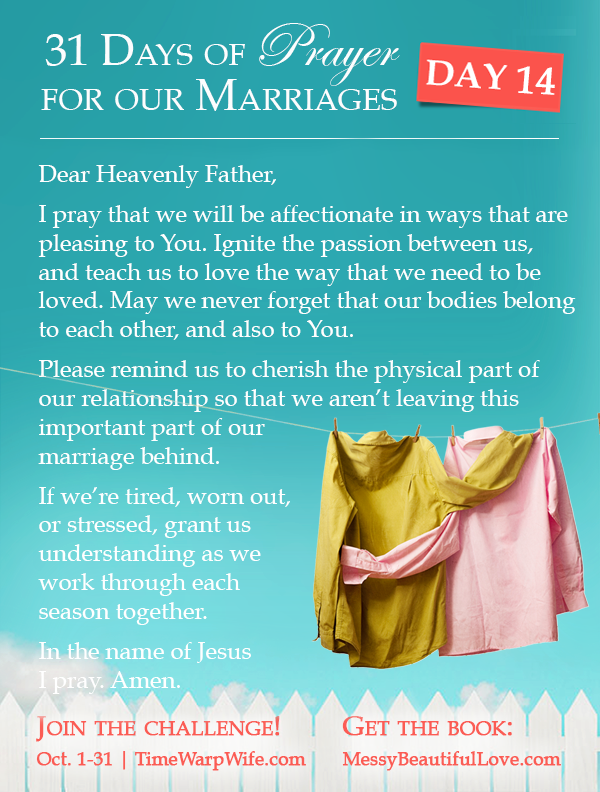 Day 14 - 31 Days of Prayer for Our Marriages