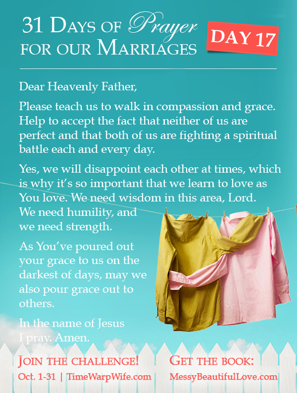 Day 17 - 31 Days of Prayer for Our Marriages