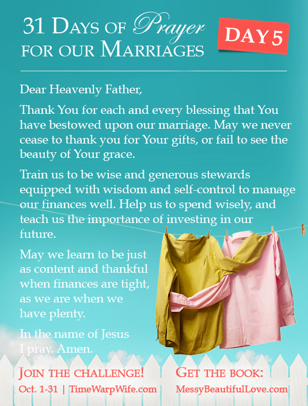 Day 5 - 31 Days of Prayer for Our Marriages