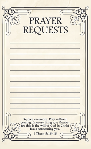 Prayer Request Printable