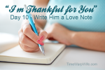 "Day 10 – ""I'm Thankful For You"" Marriage Challenge"