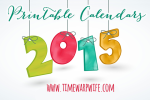 Monthly Printable Calendars for 2015