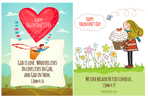 Free printable valentines with bible verses time warp wife printable valentine cards m4hsunfo