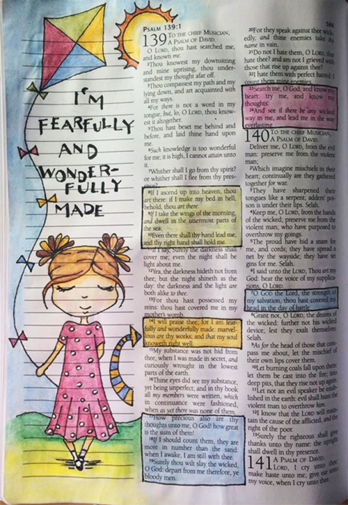 Bible Journaling - Psalm 139