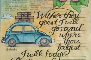 Bible Journaling – Fun With Cursive Handwriting