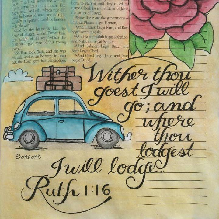 Bible Journaling – Fun With Cursive Handwriting