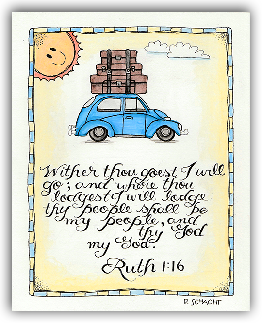 Bible Journaling - Ruth 1:16