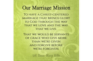 How to Create a Mission Statement For Your Marriage