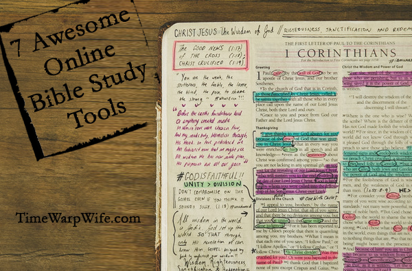7 Awesome Online Bible Study Tools
