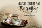 5 Ways to Bring Peace to Your Home This Christmas – Quieting Your Heart For the Holidays