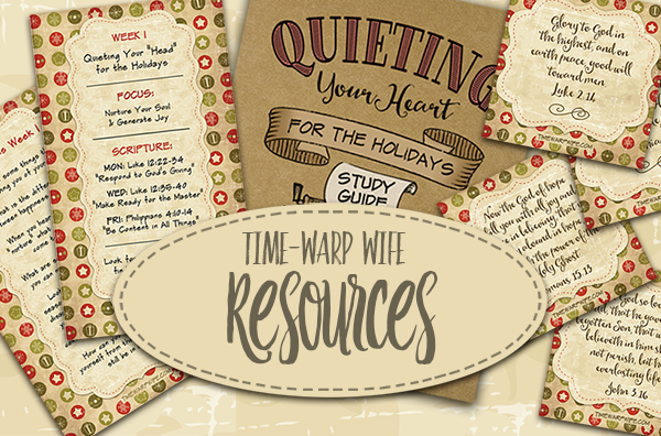 Quieting Your Heart for the Holidays – Today's the Day… Our Study Begins!