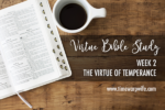 Bible Study – Week 2 – Part 1- The Virtue of Temperance