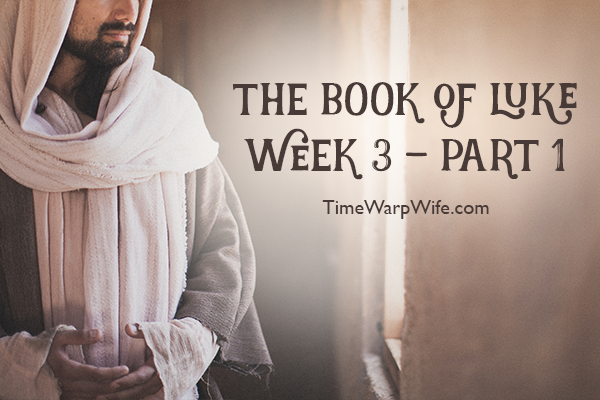 Bible Study – The Book of Luke Week 3 – Part 1