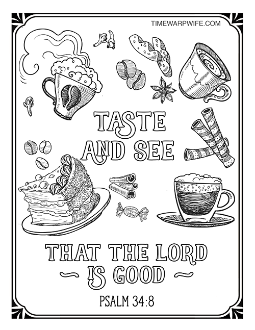 free coloring page - Psalm 8 Coloring Page