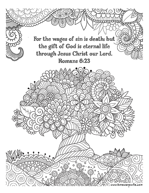 click here to view and print your coloring page - Romans 5 8 Coloring Page