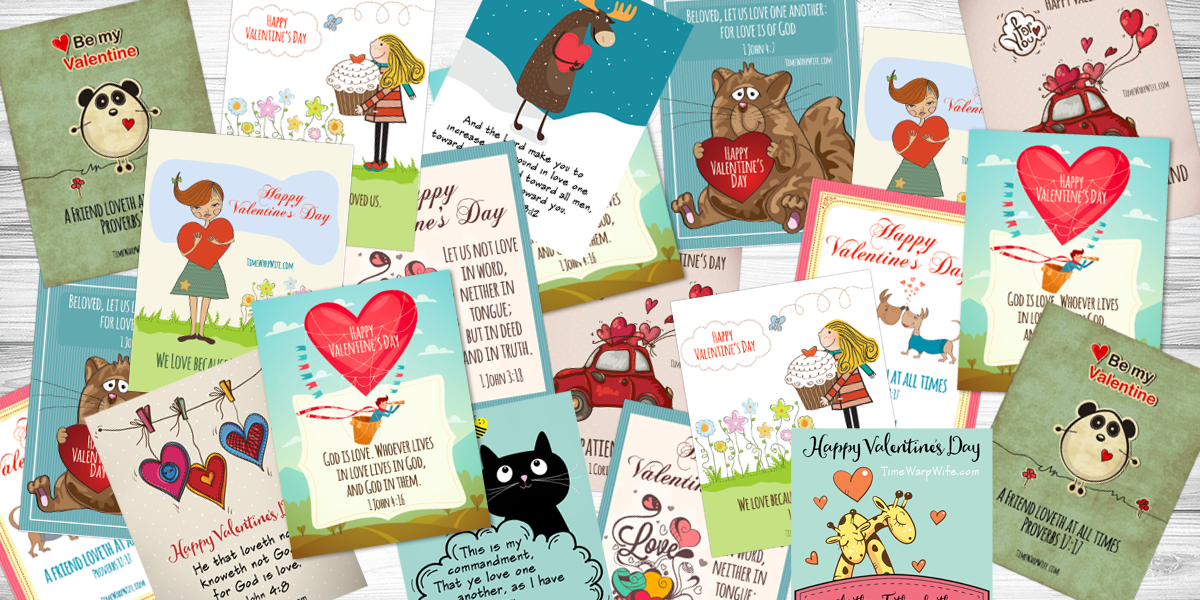 Printable Valentine Cards With Bible Verses