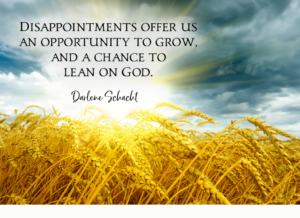 Daily Devotion – Disappointments Offer Us an Opportunity to Grow